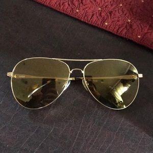 Sonix Lodi Aviator Sunglasses in Amber Mirror